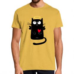 T-Shirt Homme Angel Cat