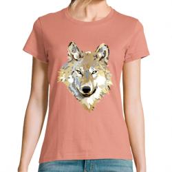 T-Shirt Femme Golden Wolf